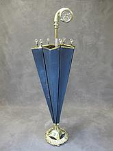 Old bronze and glass umbrella stand