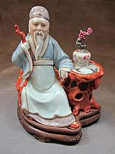 Old Chinese porcelain statue