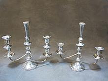 Pair of Prelude International sterling candlesticks