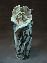 Antique Royal Dux porcelain vase