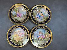 Limoges Havillan set of 4 porcelain plates