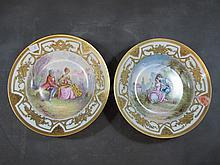 Limoges set of 2 porcelain plates