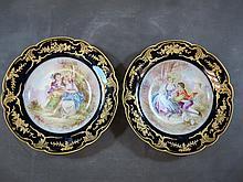 Limoges Havillan set of 2 porcelain plates