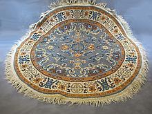 Old round rug