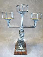 Old bronze sphinx candellabra