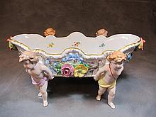 Old German porcelain centerpiece