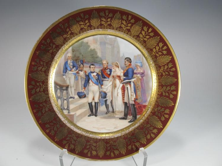 Antique French Napoleon Porcelain Plate