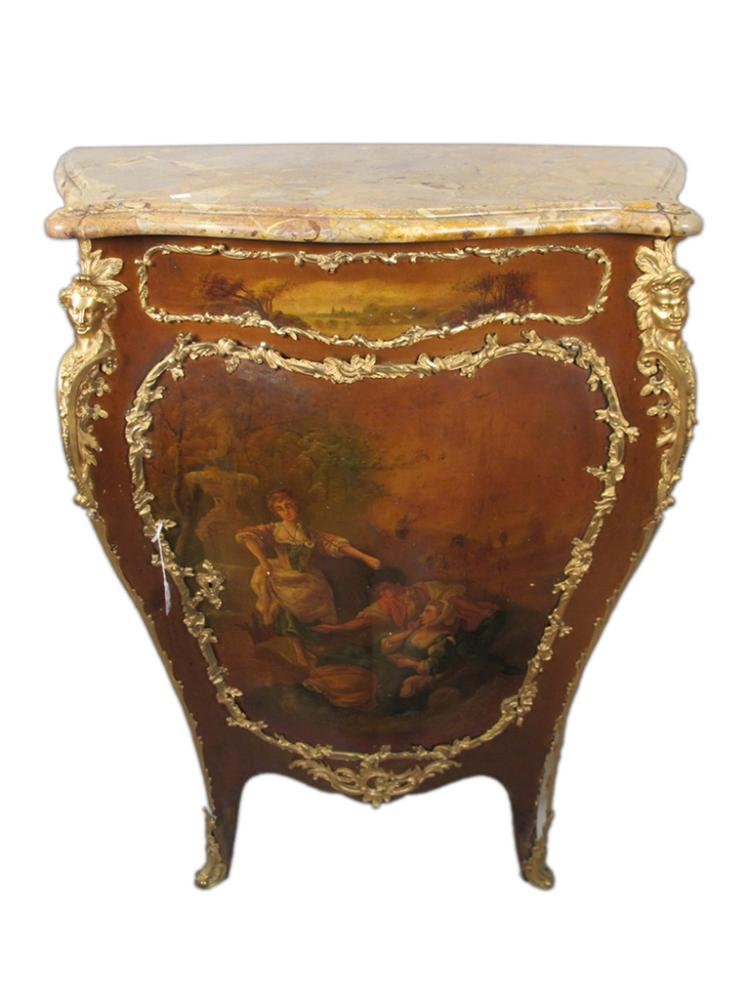 Antique french vernis martin style cabinet for Furniture auctions uk