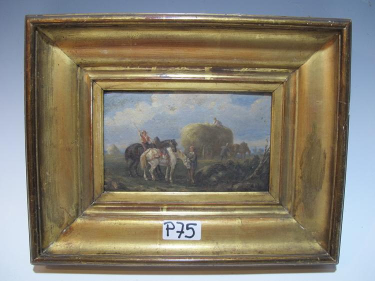 Signed DEVOUX oil on board painting