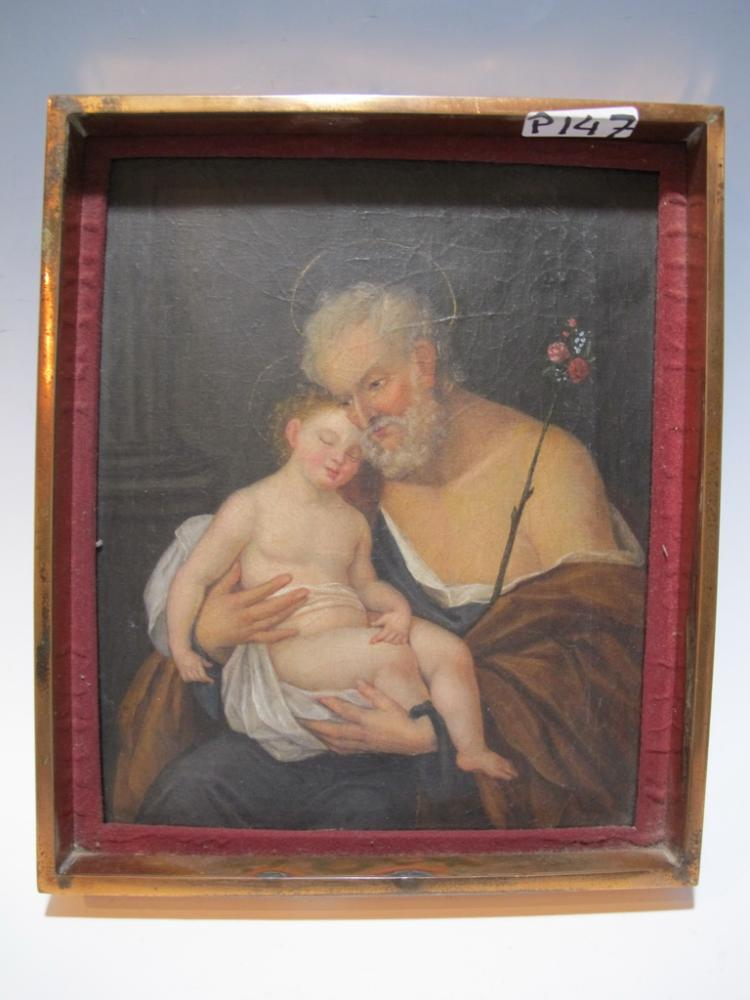 18th C Italian oil on canvas painting