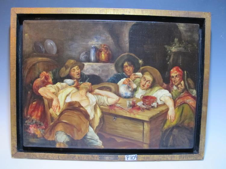 Late 19th C Spanish painting, signed RUIZ y ARANDA