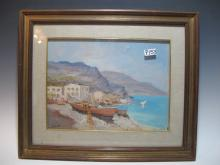 Signed CONTE, Italian, oil on masonite painting