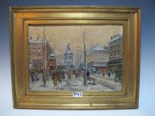 Early 20th C French oil on canvas, signed