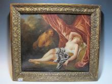 18th C European oil on canvas painting, unsigned