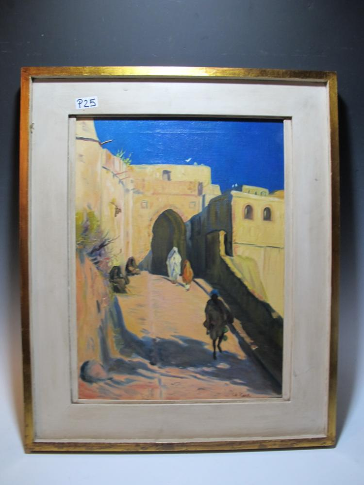 Antique Orientalist oil on canvas painting, signed