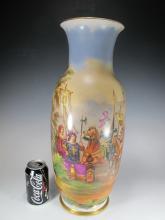 Antique European hand painted porcelain vase
