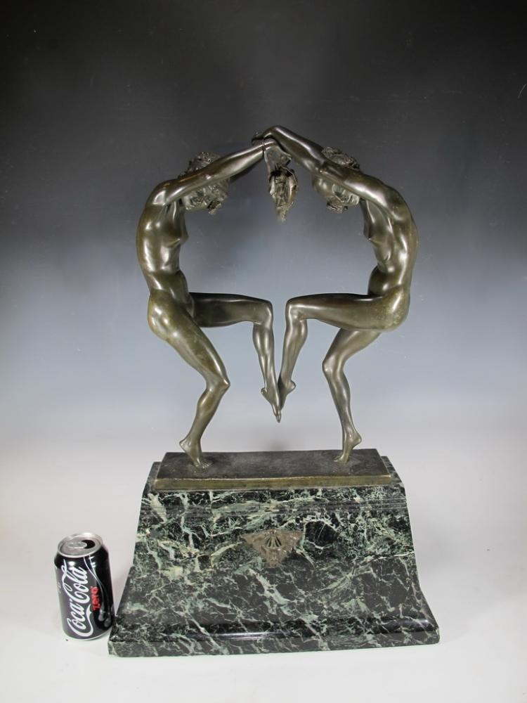 Aurore ONU (XIX-XX) bronze sculpture