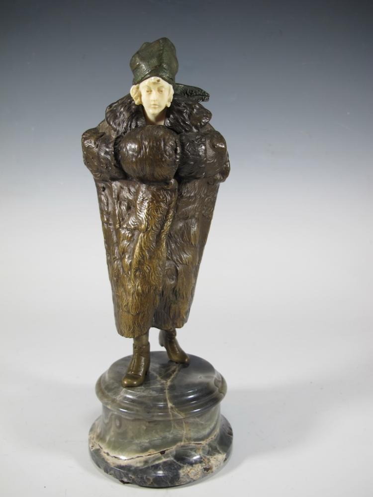 Bruno ZACH (1891-1935) erotic bronze sculpture