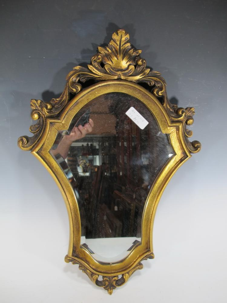 Vintage French gilt wood wall mirror