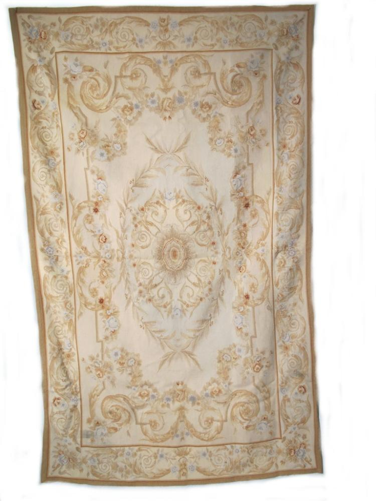 Antique French Aubusson style rug or tapestry
