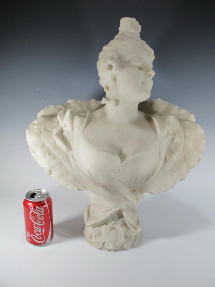 Antique Italian marble bust, A. GIROMELLA