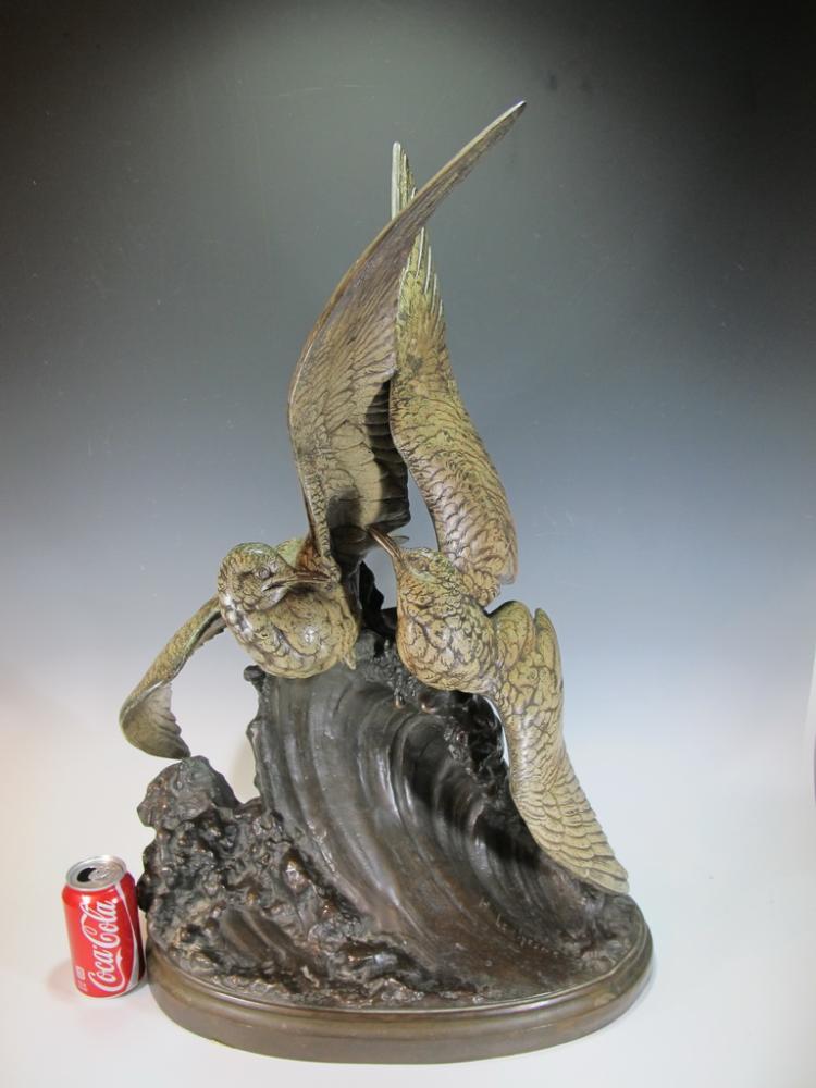 Henri LECHESNE (1869-1878) Syralyok spelter sculpture