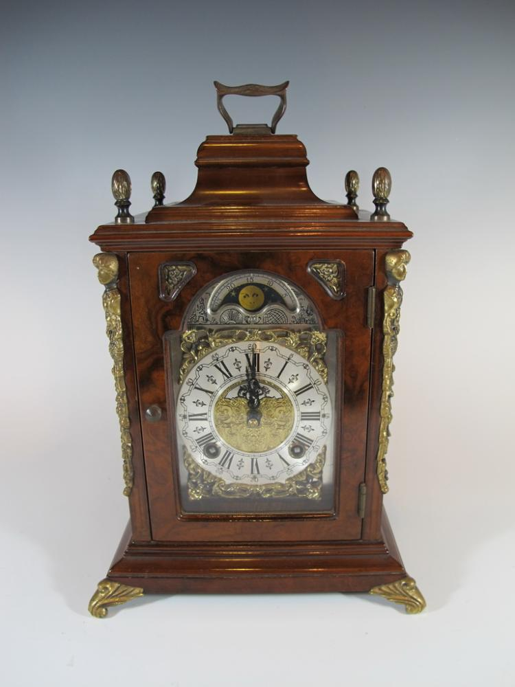 Old Dutch Wuba wood & bronze clock