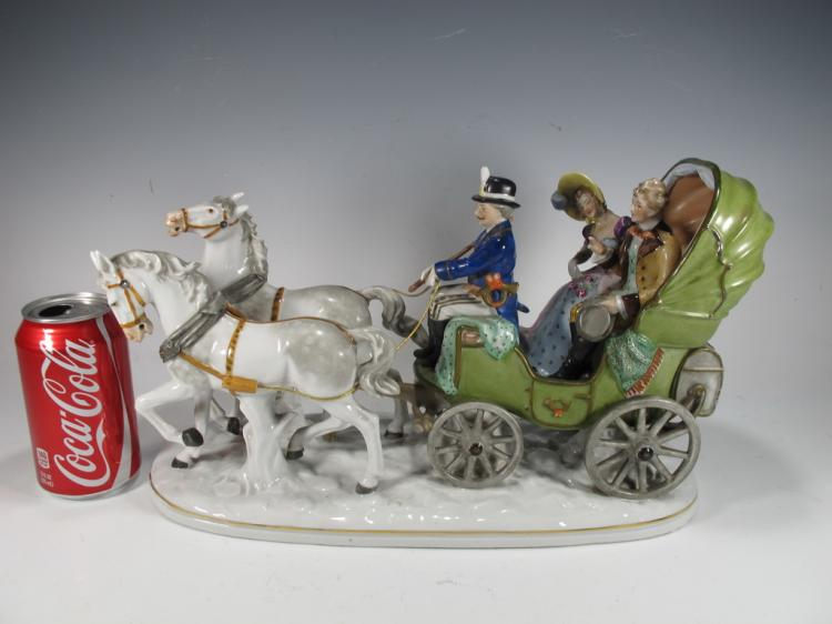 Grafenthal, Turingia, Germany porcelain carriage