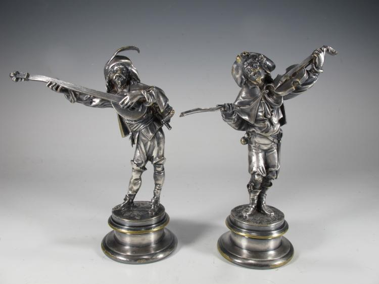 Emile GUILLEMIN (1841-1907) pair of bronze statues