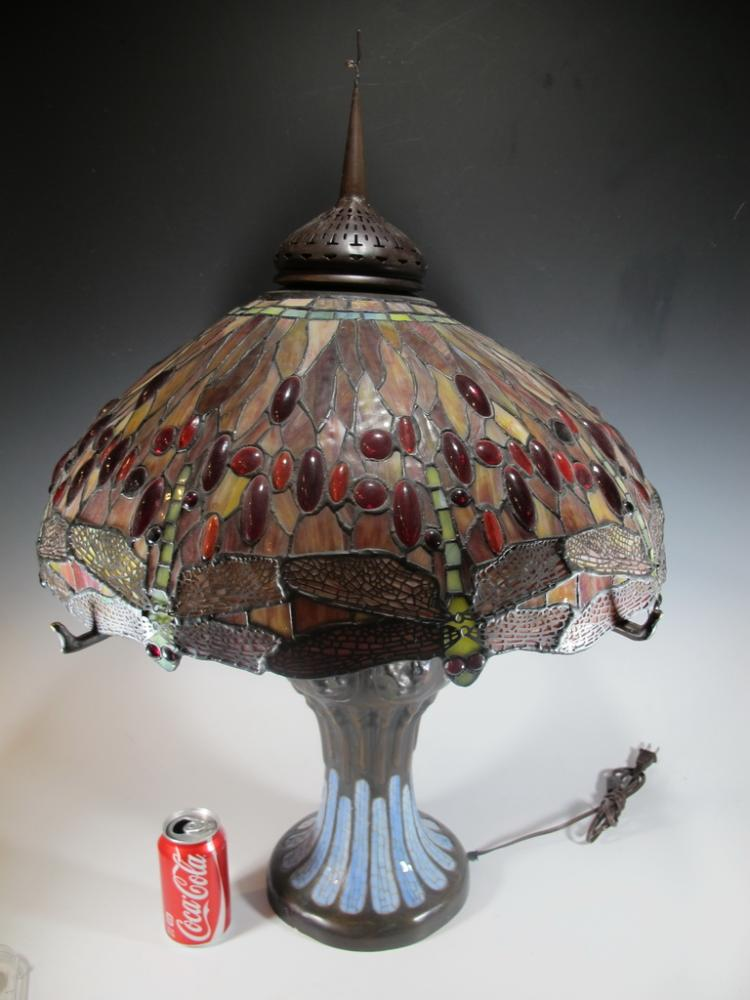 Huge Tiffany Dragonfly old reproduction lamp