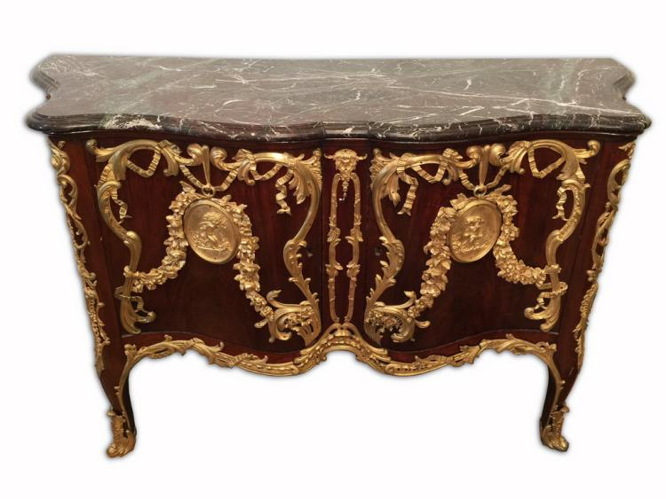 Late 19th C.  French Louis XV Ormolu chest