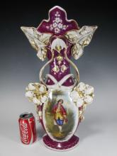 Antique European porcelain vase marked J H