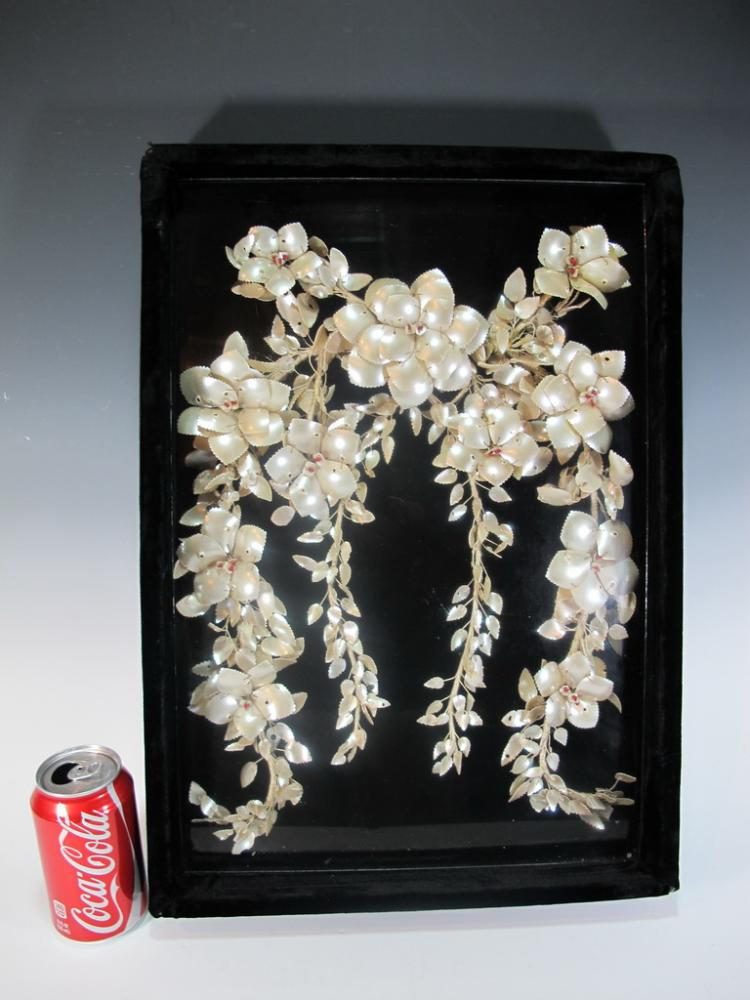 Antique Chinese mother of pearl wedding collar