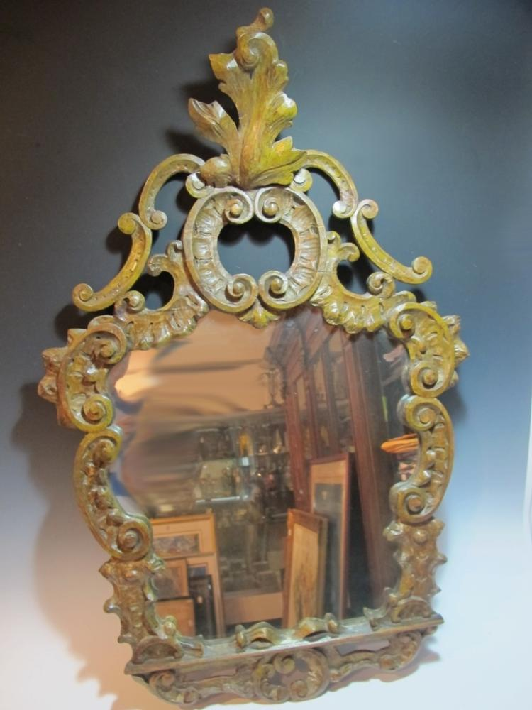 19th C Italian wood Roccoco mirror