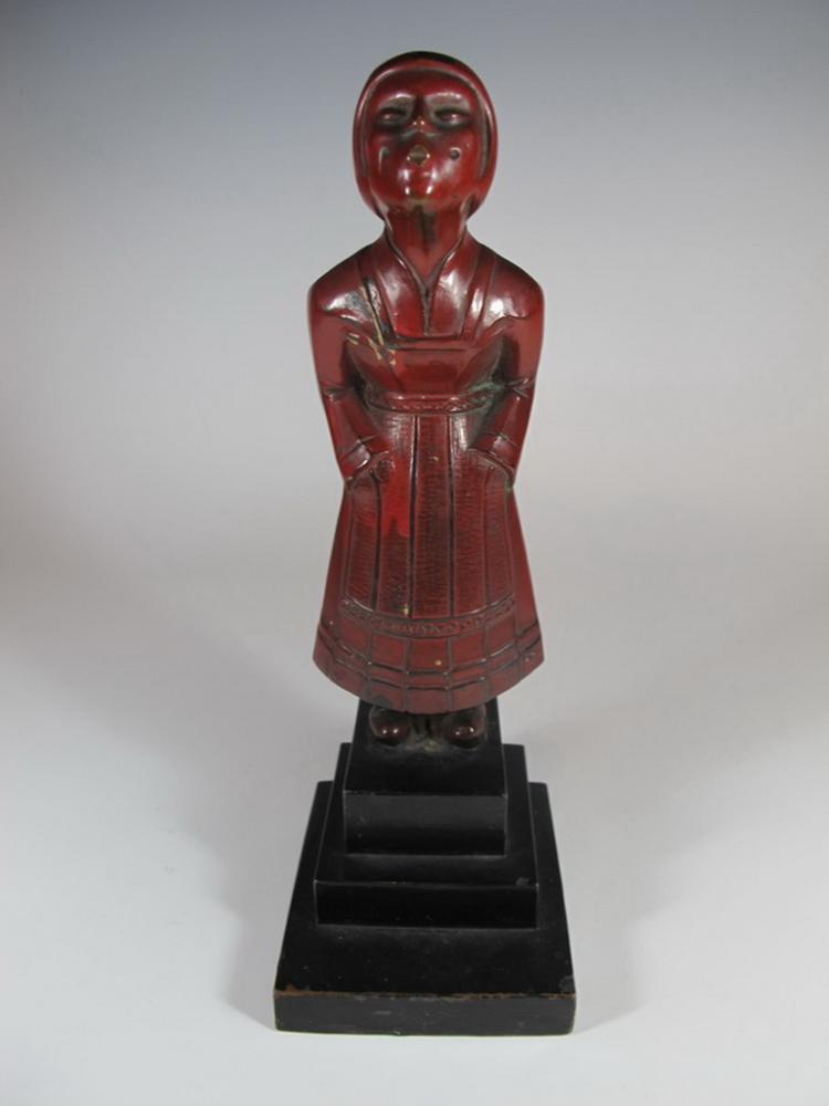Antique Art deco spelter statue