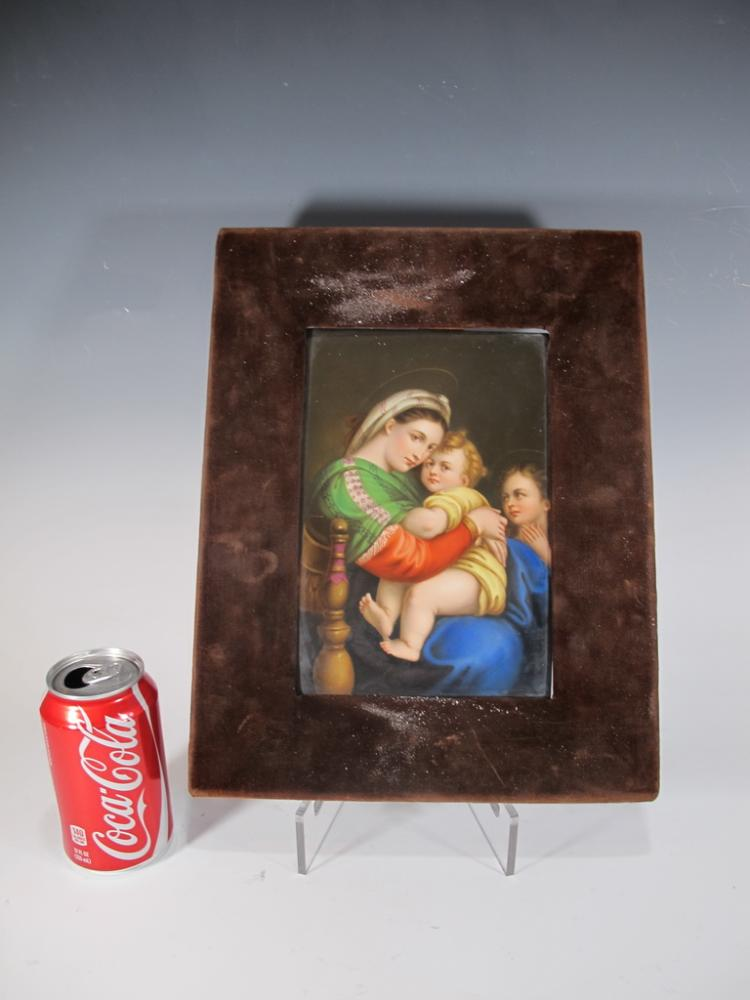 Antique German KPM porcelain plaque