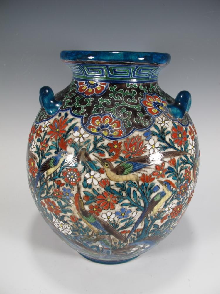 Antique Orientalist ceramic vase