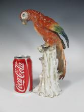 Antique probably German bird porcelain statue