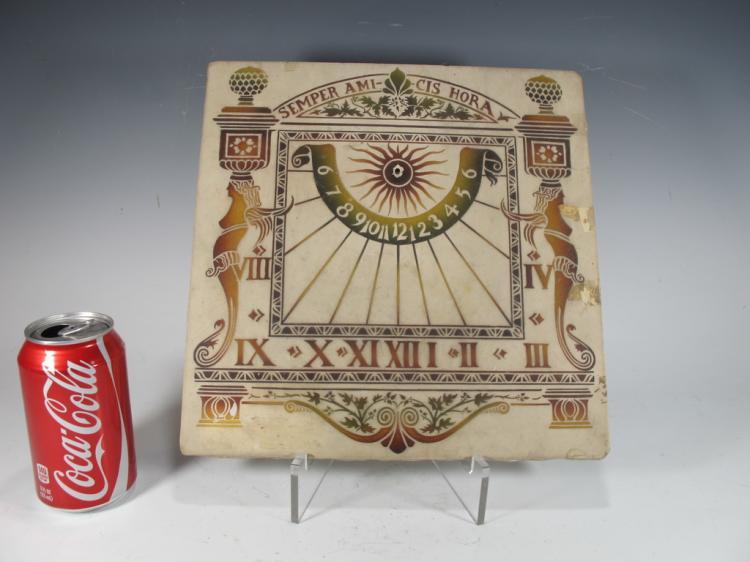 Antique ceramic Roman sun clock