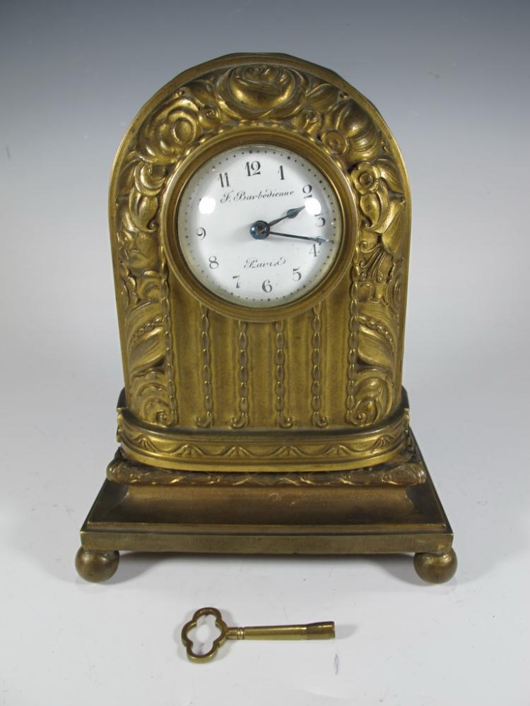 Antique French Barbedienne bronze clock