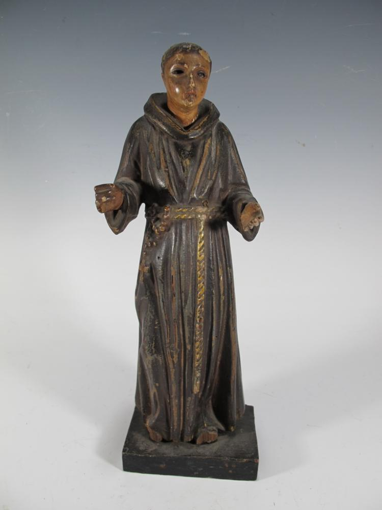19th C carved wood reilgious sculpture