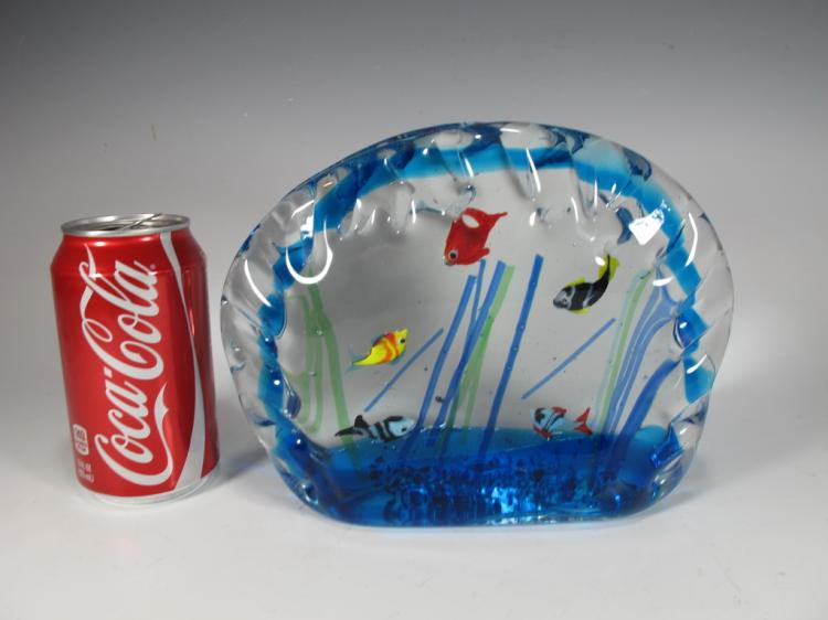 Sandro FRATTIN Art Glass fishes murano