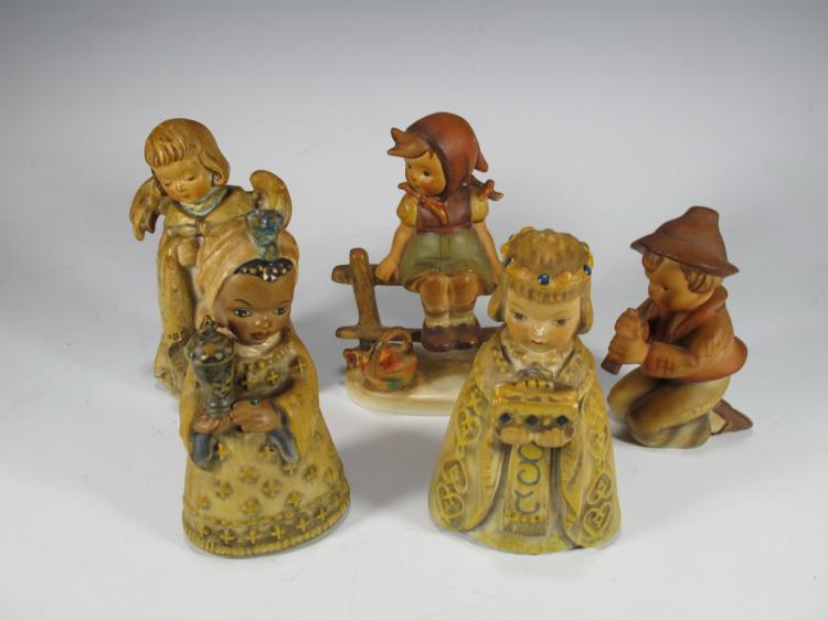 Set of 5 Hummel porcelain figures