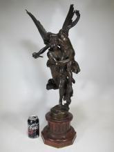 Antonin MERCIE ( 1845-1916) Barbedienne bronze statue