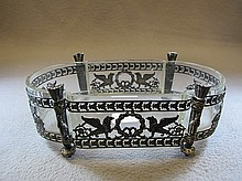 Antique French silverplated bronze centerpiece