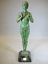 Max LE VERRIER (1891-1973) spelter statue