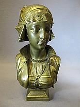 Eugene Antoine AIZELIN (1821-1909) bronze bust