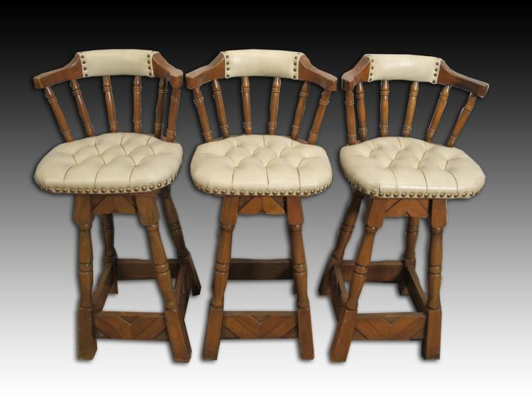 Great Set Of 3 High Bar Stools