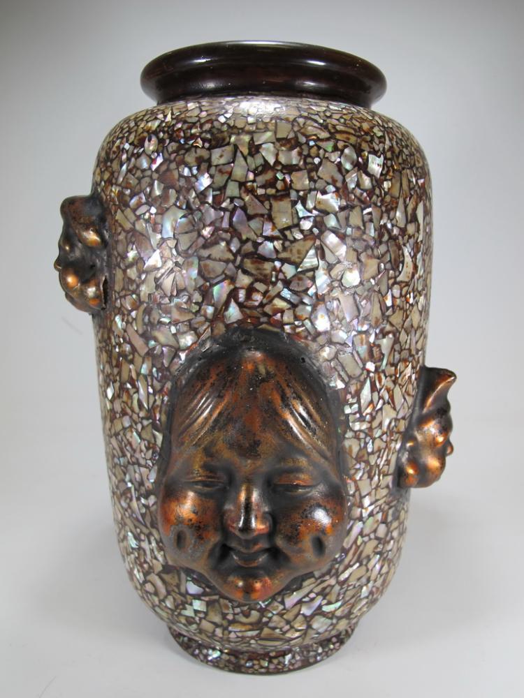 Antique Rare Oriental Porcelain Vase
