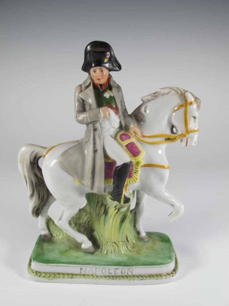 German Sheibe-Alsbach Napoleon porcelain statue